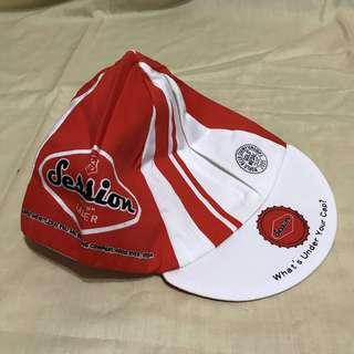 🚚 Session bike cap x2 軟式 鬆緊帶 腳踏車 車帽 防風 遮陽 輕薄透氣 吸濕排汗 紅白  全新