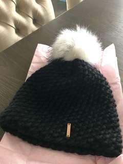 BNWT Merino Wool Hat with real fur Pom.