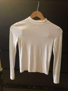 white american apparel long sleeve