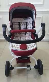Preloved Stroller bayi quantum cocolate