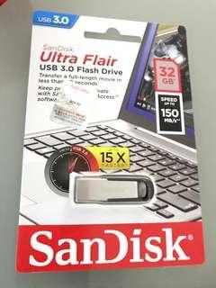 Sandisk ultra flair USB 3.0 flash drive 32GB