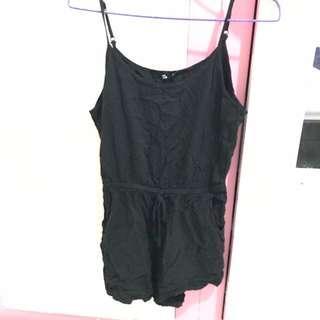 Basic black playsuit/jumpsuit