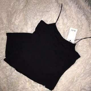 Bardot black bodycon mini dress