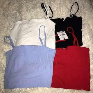 90s square neck basic crop tops