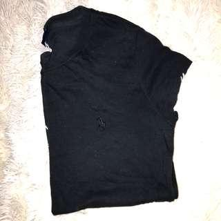 Ralph lauren basic black t shirt
