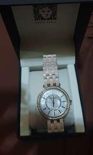 Anne Klein pink rose watch