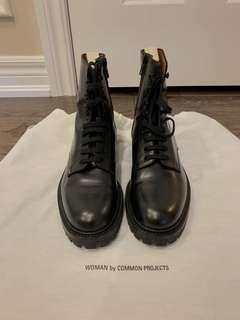 Brand new common project leather boots
