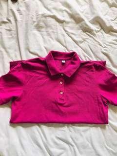 Uniqlo Purple Polo Shirt
