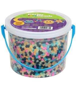 """🚚 BN Perler Beads Fun Fusion Bucket """"GLow in the Dark"""" (5000 Beads+pegboards)"""
