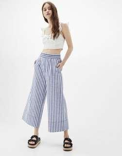Bershka striped linen culottes