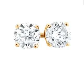 Stud Earrings with 1.02 carat TW