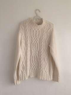 Thick Cable Knit Pullover