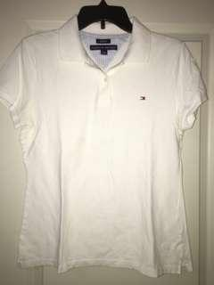 TOMMY HILFIGER WHITE POLO $5