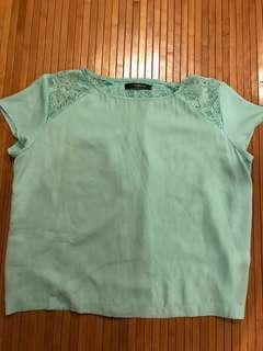 🚚 Turquoise Green Polyester Blouse