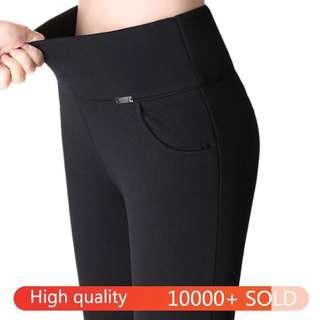 Best quality high waist pants long pants palazo chiffon harem pants jogger pants officewear office pants seluar kerja women pants seluar panjang black pants