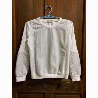 White Korean Style Sweater
