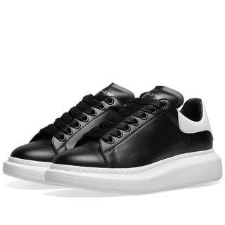 Alexander McQueen black white oversized men's sneakers 8.5 41.5