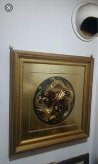 🚚 龍鳳圖壁飾