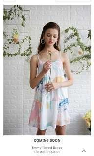 🚚 TTR The Tinsel Rack Emmy Tiered Dress size L