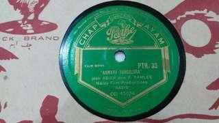 "Vintage Rare Malay Pathe Chap Ayam 78rpm 10""  50s PTH.33 Asiah & P Ramlee"