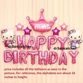 Hello Kitty foil balloon set for birthday party