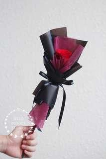 Preserved real rose bouquet