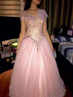Ball Gown For Rent (Salmon Pink)