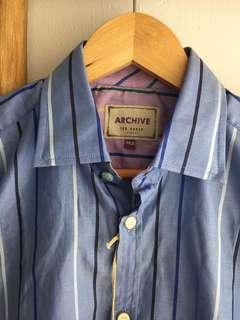 Ted Baker striped shirt size 14.5 Egyptian cotton