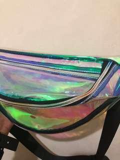 Tas Pinggang Hologram Transparant