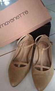 Nude shoes of mayonette