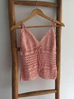 Crochet Singlet Beach Cover Tank Top