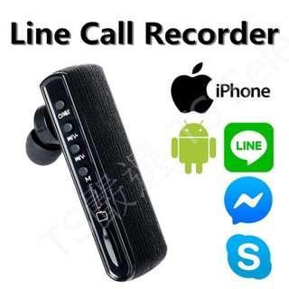 🚚 獨立式 Line 密錄耳機 雙向 通話 錄音 藍芽 耳機 facebook messenger watsapp skype iphone 錄音 藍牙 MP3 插卡 記憶卡 手機 APP 密錄 秘錄 蒐證 神器 自保 密錄器 錄音筆 錄音機 答錄機 cell phone call recorder