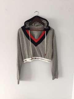 Tommy Hilfiger x urban outfitters cropped hoodie with logo waistband