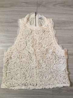 Zara Sleeveless Top (Cream Color)