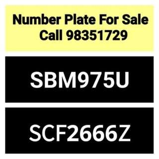 30 years old number plate for sale - call 98351729
