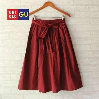 GU Skirt Waist Ribbon Red