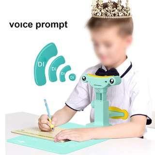 Kids Sitting Writing Posture Corrector Straightener Anti-myopia Blue