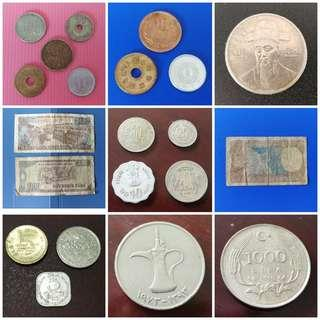 Rest of Asia Japan(Hirohito & Heisei era), S.Korea, Vietnam, India, Sri Lanka, UAE,  Turkey currency note & coin. Detail price and description in respective listings