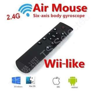 🚚 [體感款] 新款 空中 飛鼠 體感 鍵鼠 無線 鍵盤 滑鼠 免驅動 電腦 智慧 電視 平板 手機 遙控器 2.4G 非 藍芽 wireless 6 axis inertial sensor air mouse remote control