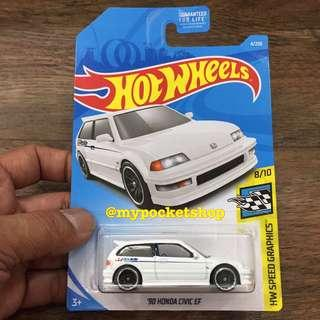 🚚 Hot Wheels '90 HONDA CIVIC EF (GReddy U.S Card)