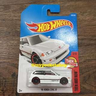 🚚 Hot Wheels '90 HONDA CIVIC EF (VTEC White)