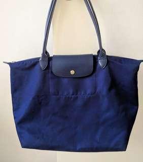 Longchamp Bags Le Pliage Neo Large Navy Blue