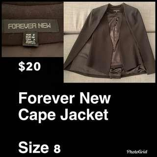 Forever New Cape Jacket AU 10