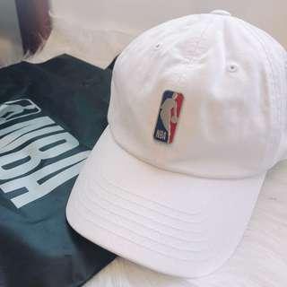 🚚 NBA 立體logo白色老帽 韓國帶回