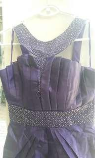 P800 Purple Cocktail Dress for Prom