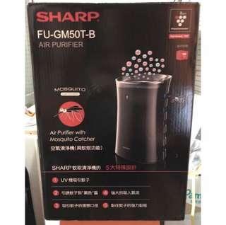 SHARP 蚊取空氣清淨機 FU-GM50T-B 限台中自取