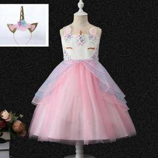 🔥HOT‼️Unicorn party gown 🌈🦄