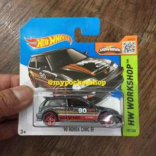 🚚 Hot Wheels '90 HONDA CIVIC EF (VTEC Black)