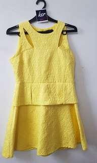 Zalora yellow dress 75K