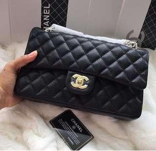 Chanel Classic Caviar GHW 25cm